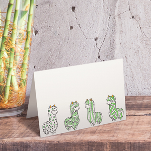 Llama Alpaca Coloring Note Cards Instant Download