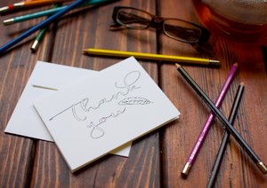 Coloring Thank You Note Card with Feather Design