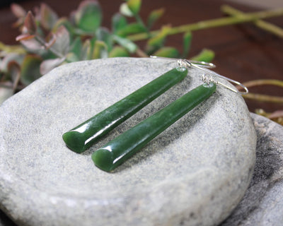 Twist Sculpture carved from Hapopo Pounamu - NZ Greenstone