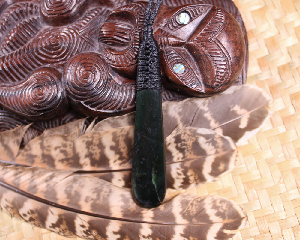 Koru carved from Flower Jade Pounamu - NZ Greenstone