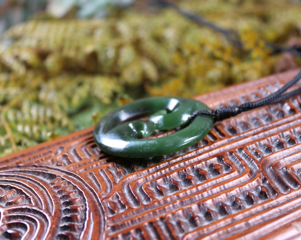 Tohore or Whale carved from Kawakawa Pounamu - NZ Greenstone