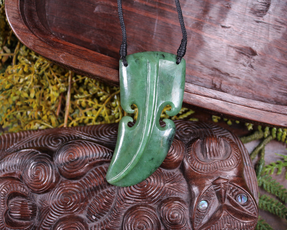 Koru or Spiral carved from Hapopo Pounamu - NZ Greenstone