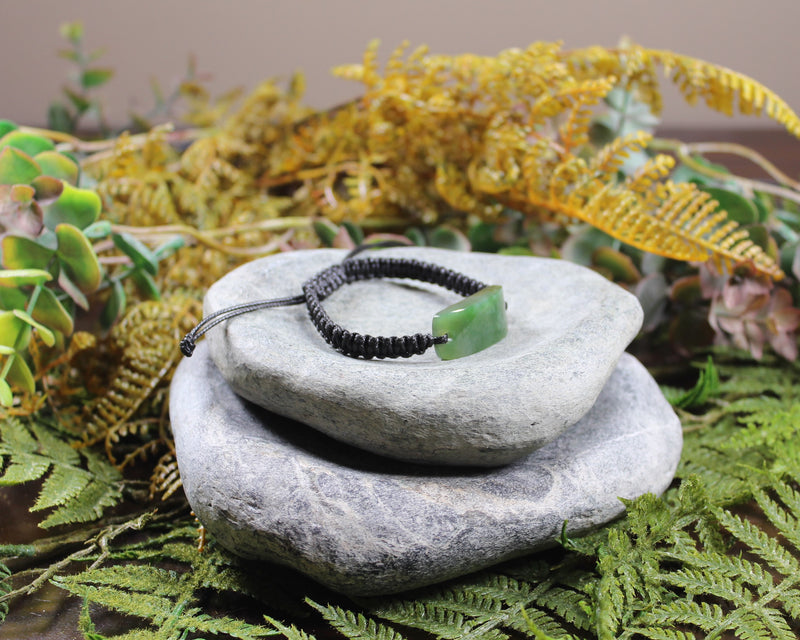 Double Koru Pendant carved from Flower Jade Pounamu - NZ Greenstone