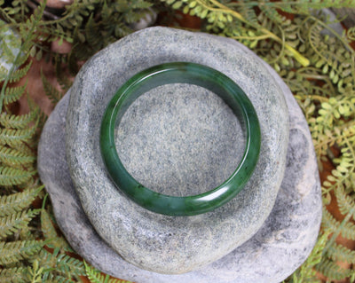 Bangle carved from Hapopo Pounamu - NZ Greenstone