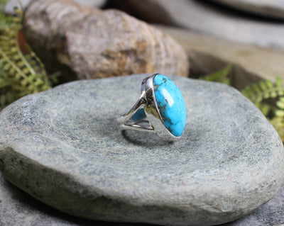 Kingman Mine Turquoise Sterling Silver Ring
