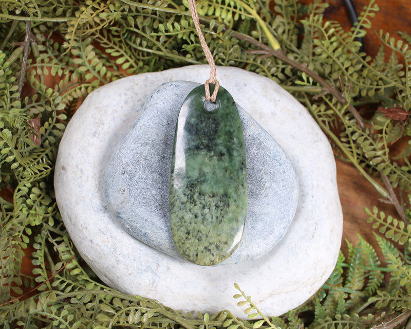 Cross Pendant carved from Kahurangi Pounamu - NZ Greenstone
