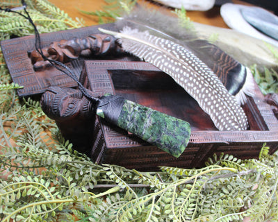 Roimata Teardrop carved from Rimu Pounamu - NZ Greenstone