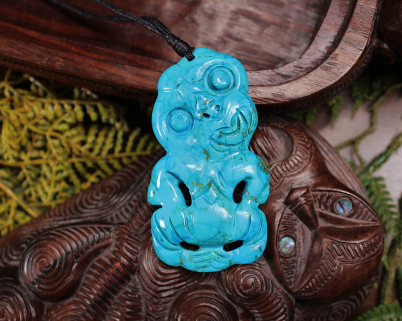 Taniwha Tooth or Niho carved from Flower Jade Pounamu - NZ Greenstone