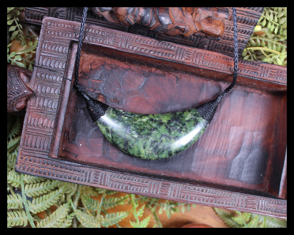 Breast plate or Shield carved from Douglas Creek Pounamu - NZ Greenstone