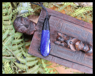 Roimata Teardrop carved from Lapis Lazuli