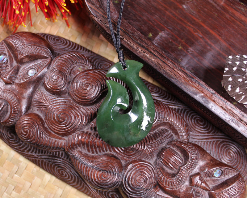 Koropepe Sculpture carved from Hapopo Pounamu - NZ Greenstone