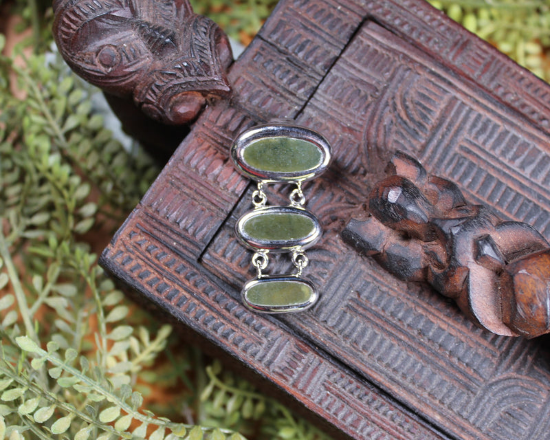 New Zealand Greenstone Roimata Earrings