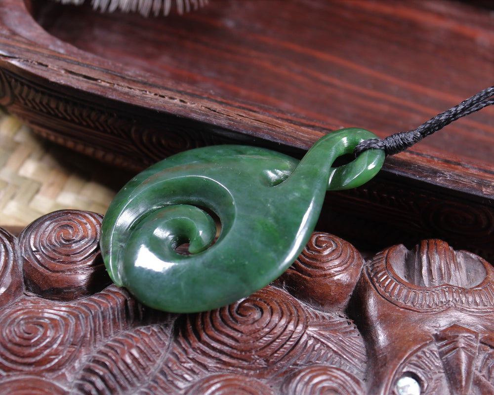 Manaia carved from Kahurangi Pounamu - NZ Greenstone