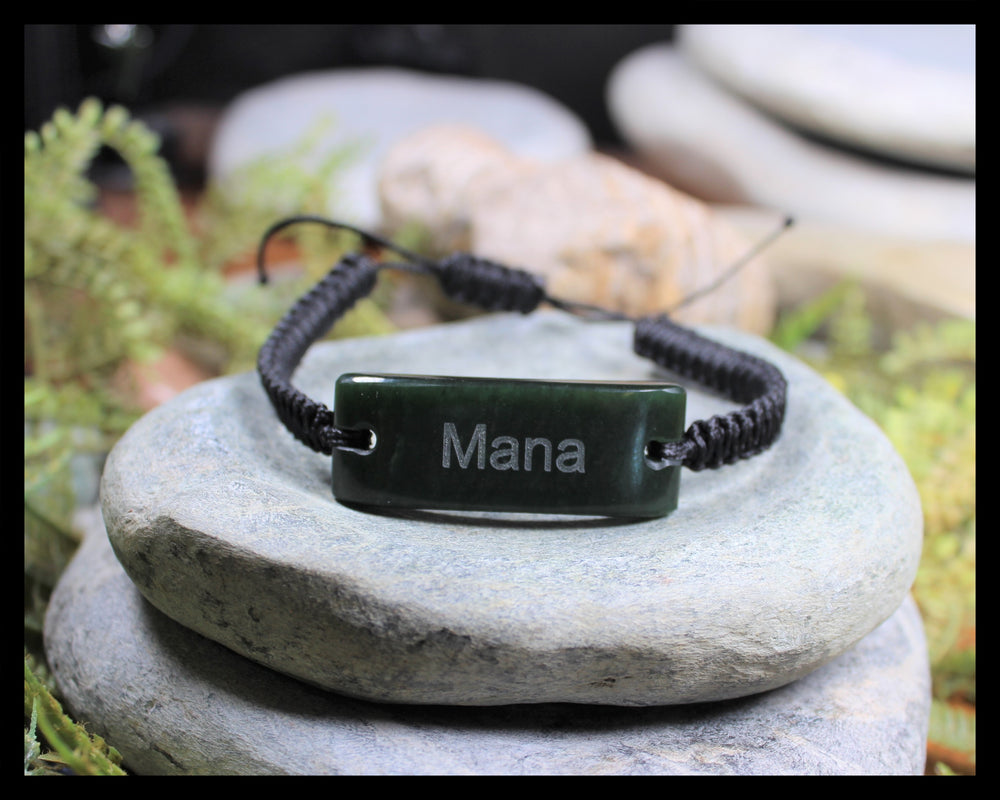 Adjustable Pounamu Bracelet MANA - New Zealand Greenstone