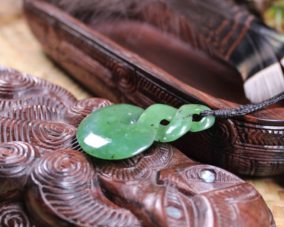 Turtle carved from Rimu Pounamu - NZ Greenstone