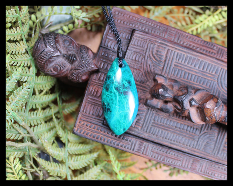 Roimata Teardrop carved from Chrysocolla
