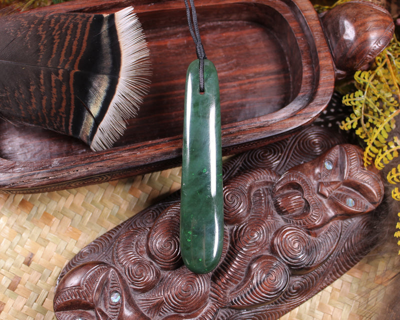 Manaia carved from Hapopo Pounamu - NZ Greenstone