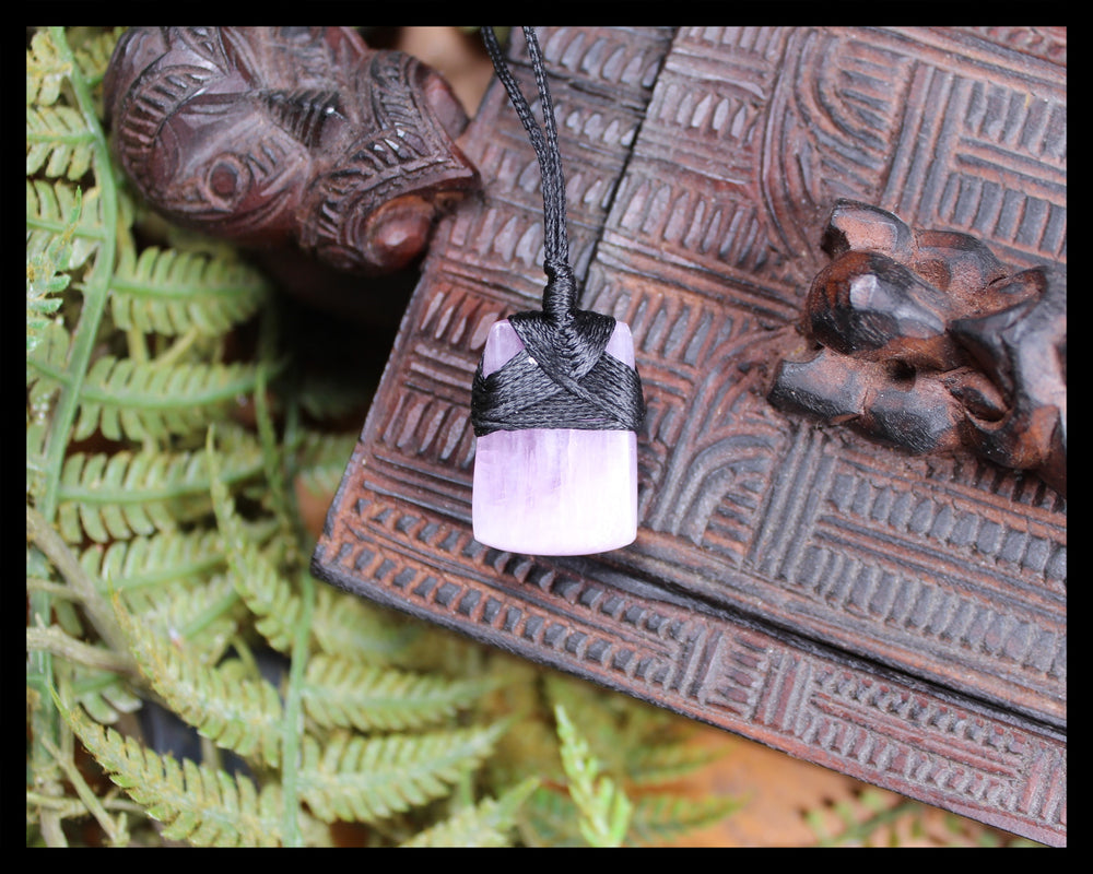 Toki or Adze Pendant carved from Kunzite