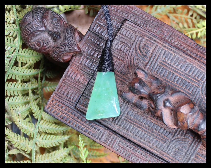 Toki or Adze Pendant carved from Chrysoprase