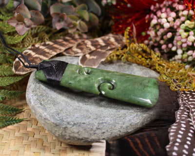 Roimata Teardrop carved from Douglas Creek Pounamu - NZ Greenstone