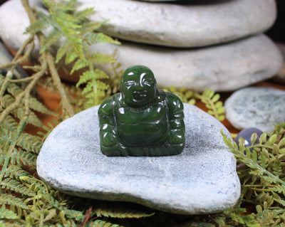SM BUDDHA SCULPTURE - Flower Jade Pounamu - G933