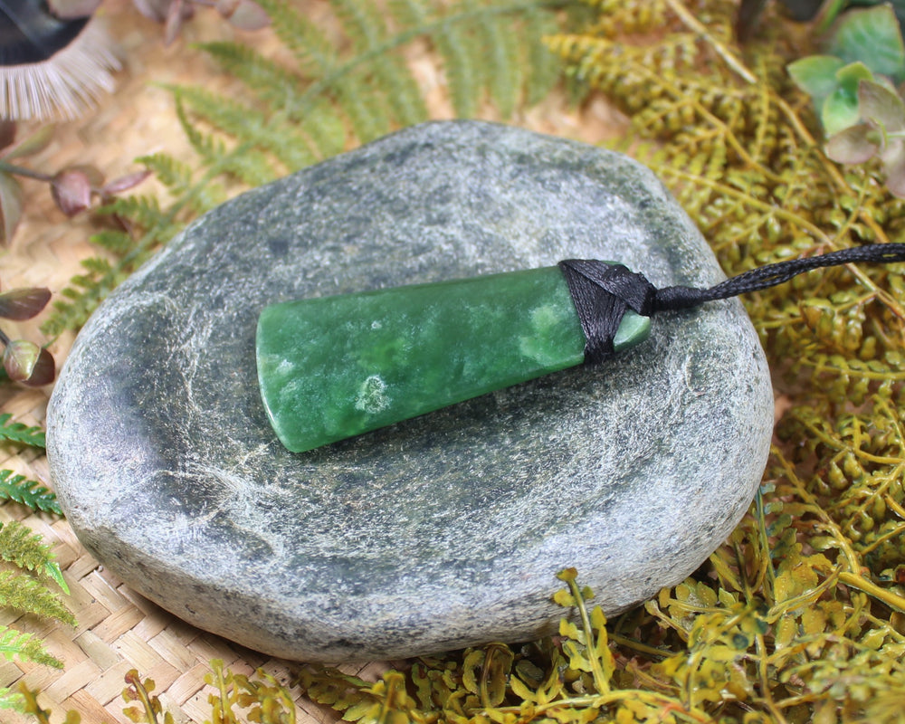 Toki or Adze with Koru Pendant carved from Hapopo Pounamu - NZ Greenstone