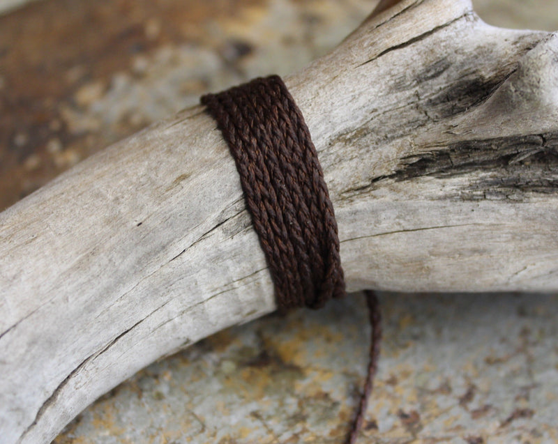 THREE PLAIT CORD - Coffee Brown