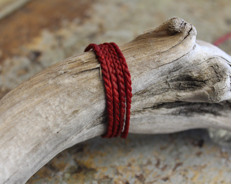 THREE PLAIT CORD - Deep Red