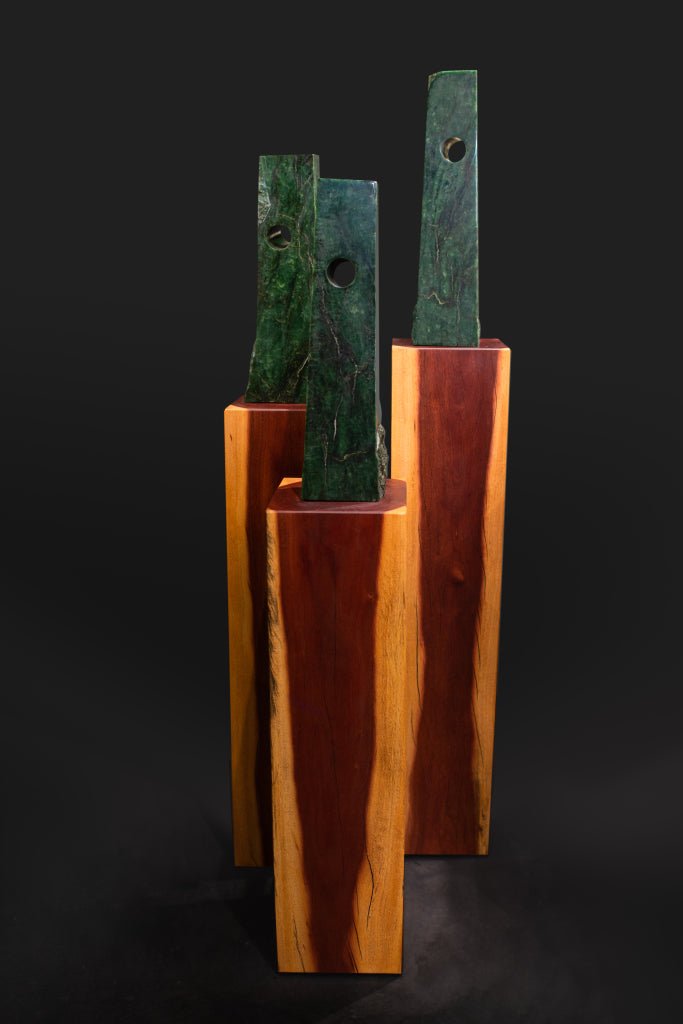Hapopo Pounamu Sculpture, NZ Greenstone.