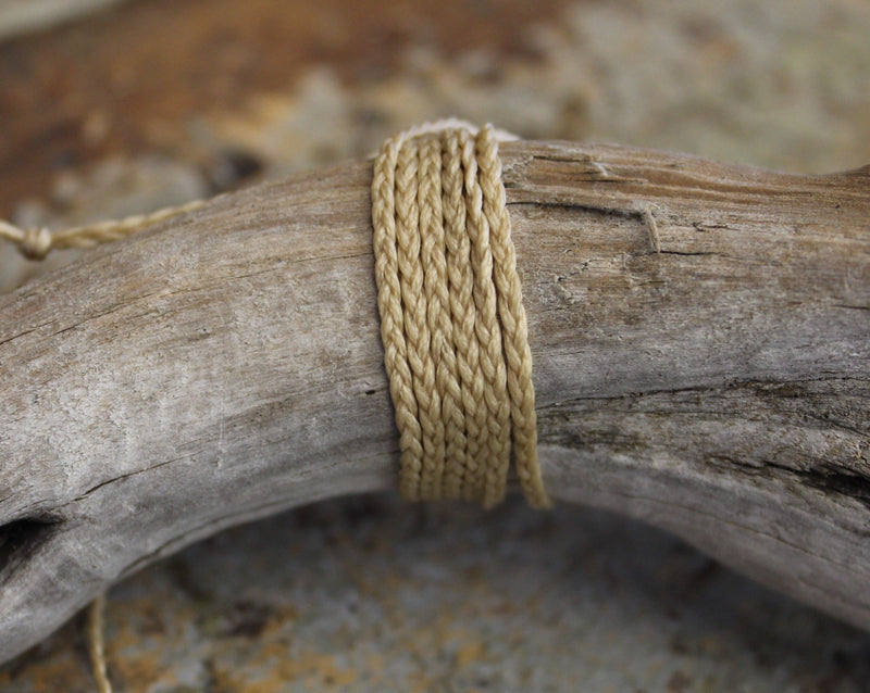 THREE PLAIT CORD - Natural (NZ ONLY)