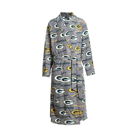 Green Bay Packers Microfleece Bathrobe - Gray