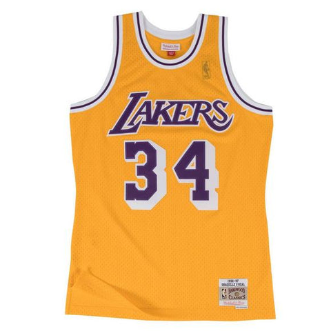 Lakers Shaquille O'Neal 1996-97 Swingman Jersey - Yellow