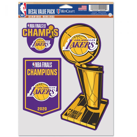 "Los Angeles Lakers 2020 World Champions 3 Pack 5.5""x 7.5"""