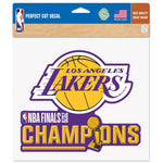 "Los Angeles Lakers 2020 World Champions Perfect Cut Color Decal 8"" X 8"""