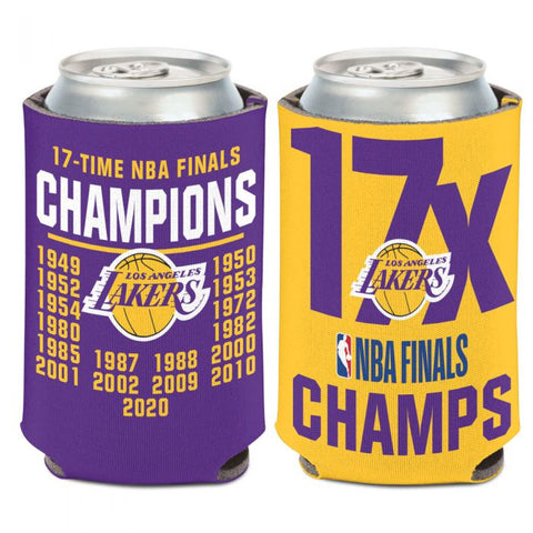 Los Angeles Lakers 2020 World Champions 2x Can Cooler