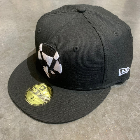 Aviators 59fifty Fitted Primary Logo Hat- Black