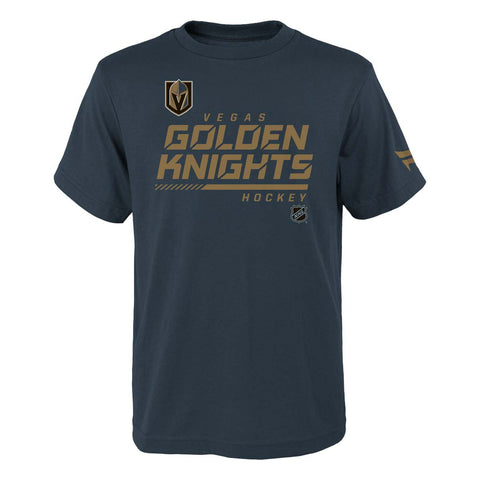 Vegas Golden Knights Youth Authentic Pro T-Shirt - Charcoal