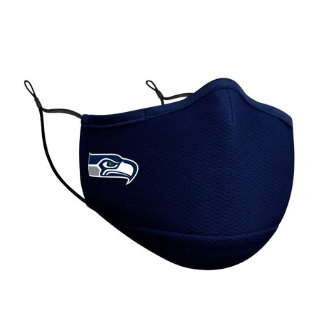 Seattle Seahawks New Era On-Field Face Covering Mask Adult- Black & Navy