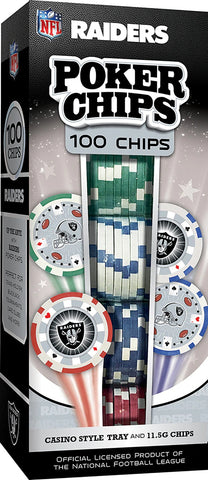 Raiders Poker Chips 100 Pieces