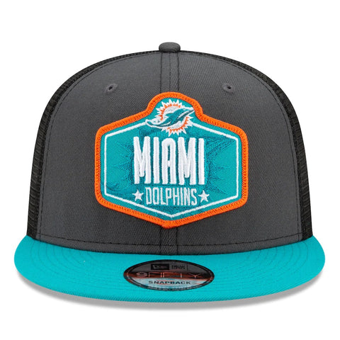 Miami Dolphins New Era 2021 Draft Trucker 9FIFTY Snapback Adjustable Hat