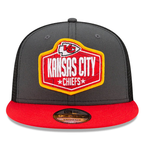 Kansas City Chiefs New Era 2021 Draft Trucker 9FIFTY Snapback Adjustable Hat