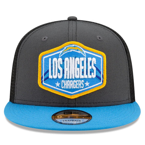 Los Angeles Chargers New Era 2021 Draft Trucker 9FIFTY Snapback Adjustable Hat