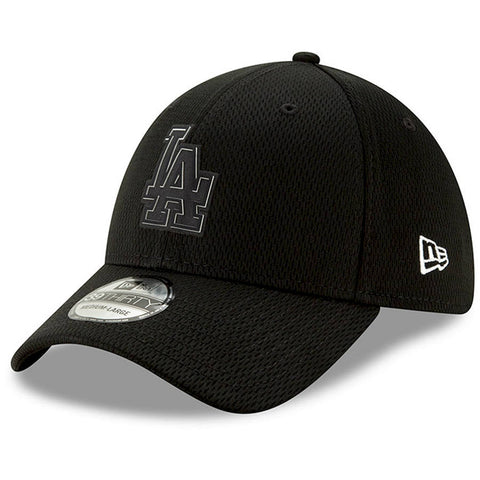 Dodgers Black New Era Clubhouse Collection 39THIRTY Flex Hat