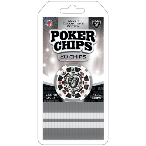 Raiders NFL 20 Piece Poker Chips Set