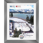 Vegas Golden Knights vs. Colorado Avalanche Highland Mint 2021 NHL Outdoors at Lake Tahoe Matchup 13'' x 16'' Silver Coin Photo Mint ***