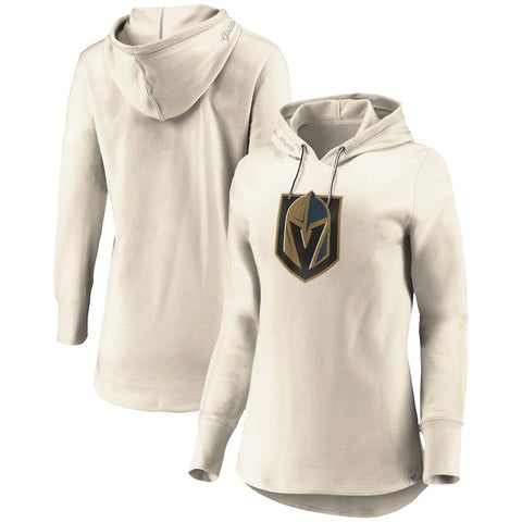 Golden Knights Womens Oatmeal True Classics Signature Fleece Pullover Hoodie