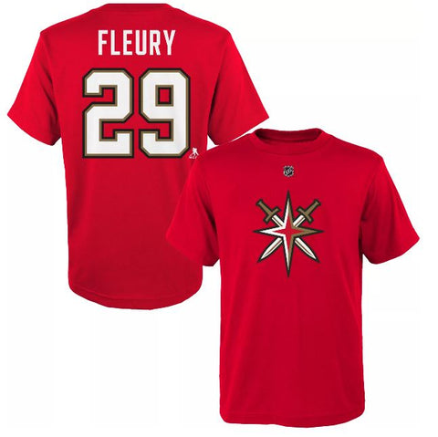 Vegas Golden Knights Youth Fleury #29 Retro Reverse T-Shirt - Red