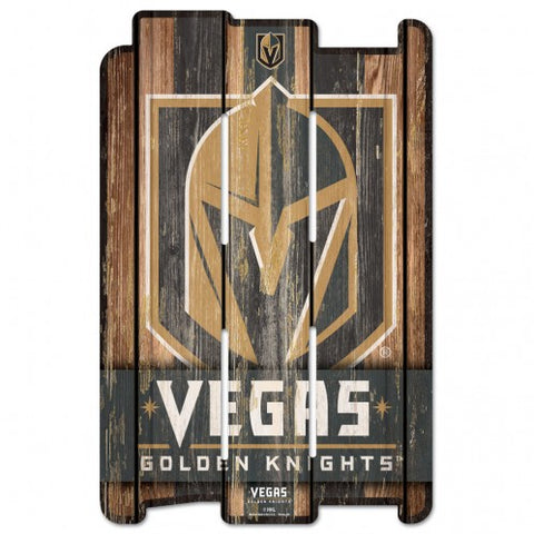 Golden Knights Slotted Wood Sign