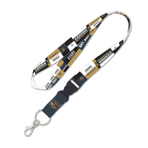 Golden Knights Color Block Lanyard w/ Detachable Buckle