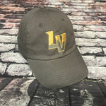 Las Vegas Aviators Slouch Dad Hat Gold Embroidery- Grey
